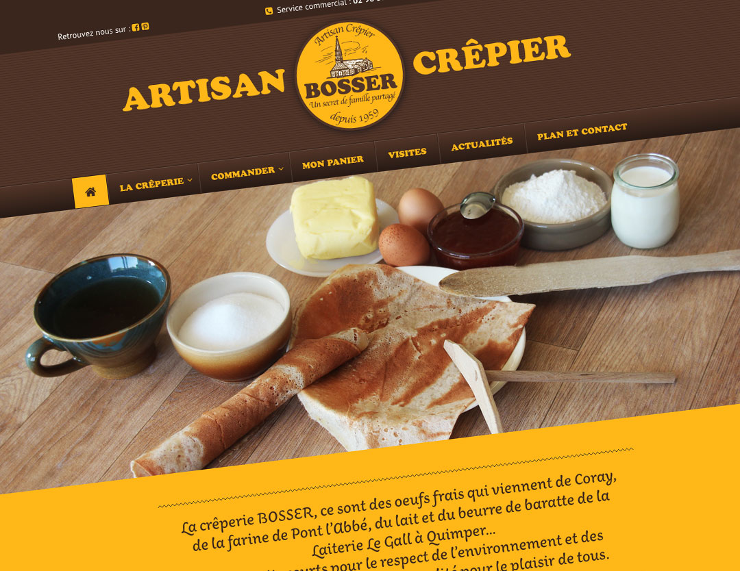 crêperie bosser site web travers