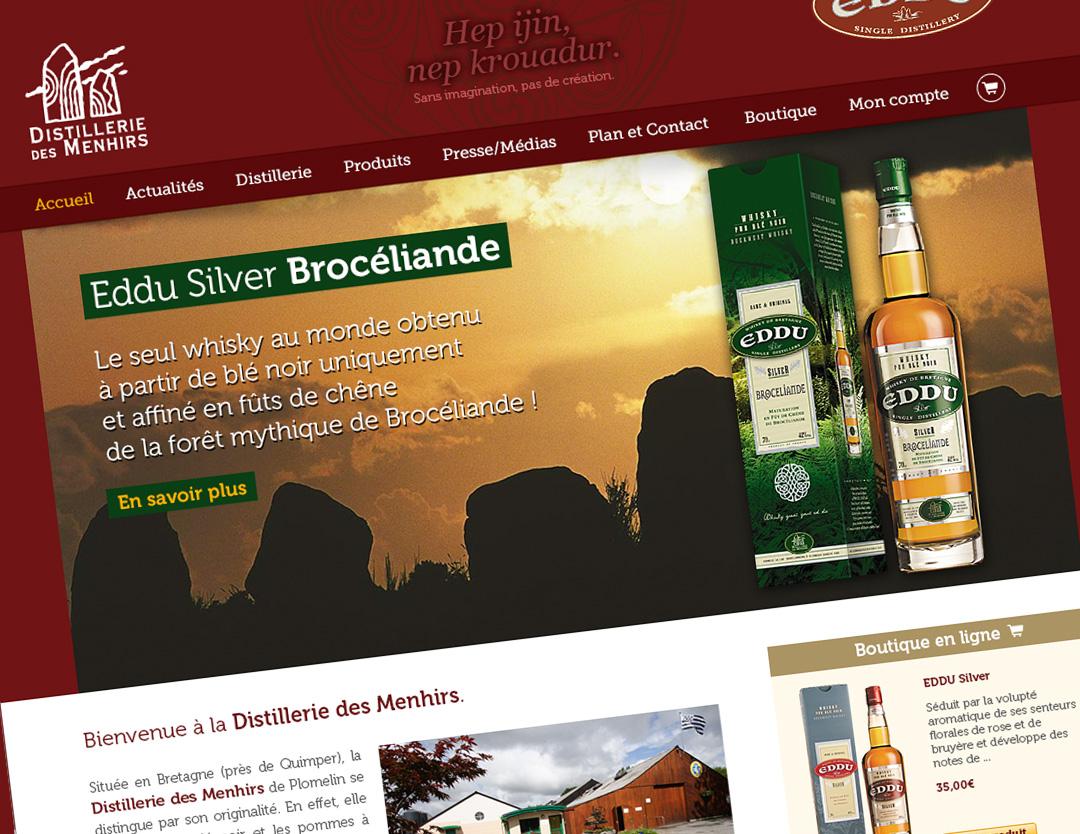 Distillerie des menhirs site web
