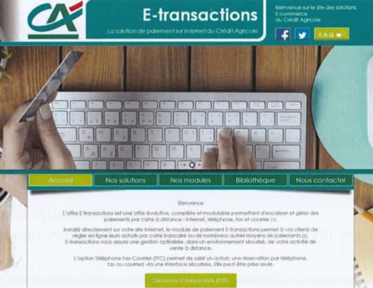 visuel couverture e-transaction crédit agricole