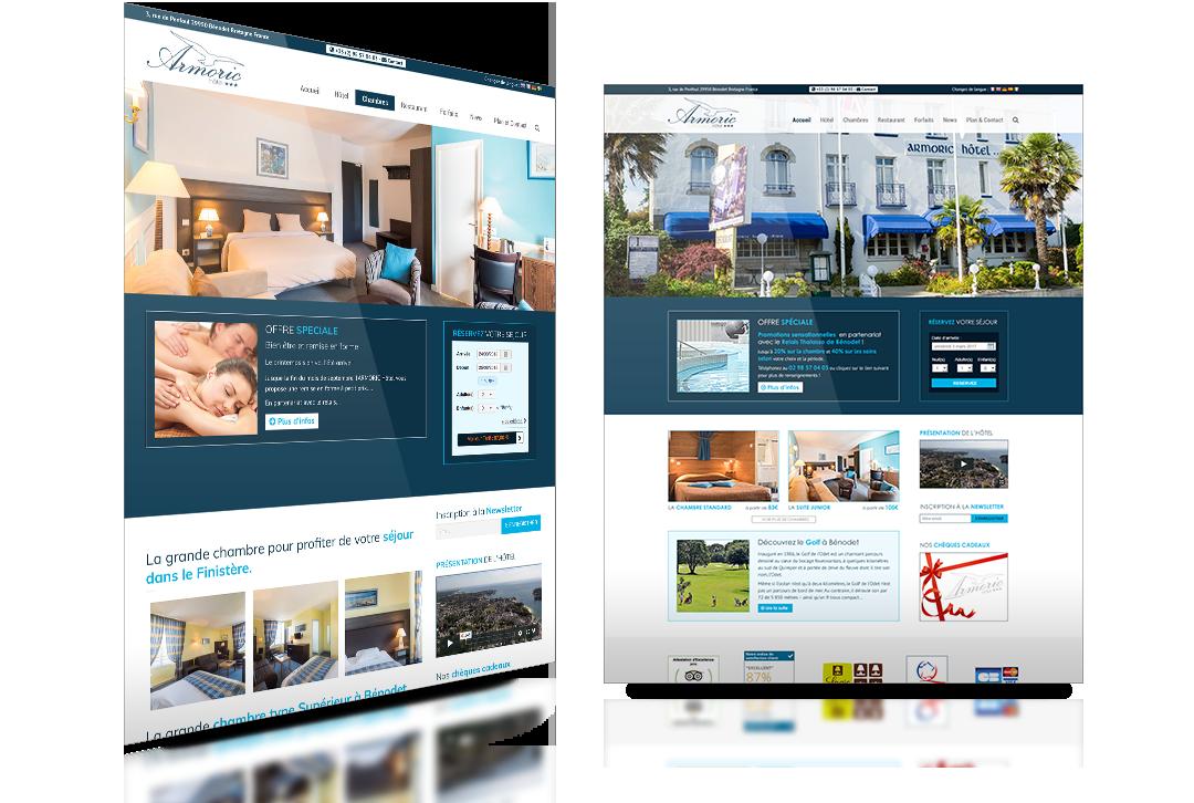 armoric hôtel site web