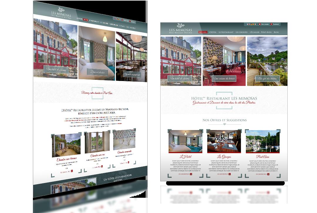 hôtel les mimosas site web