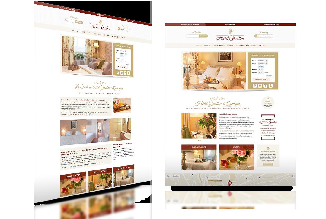hôtel gradlon site web
