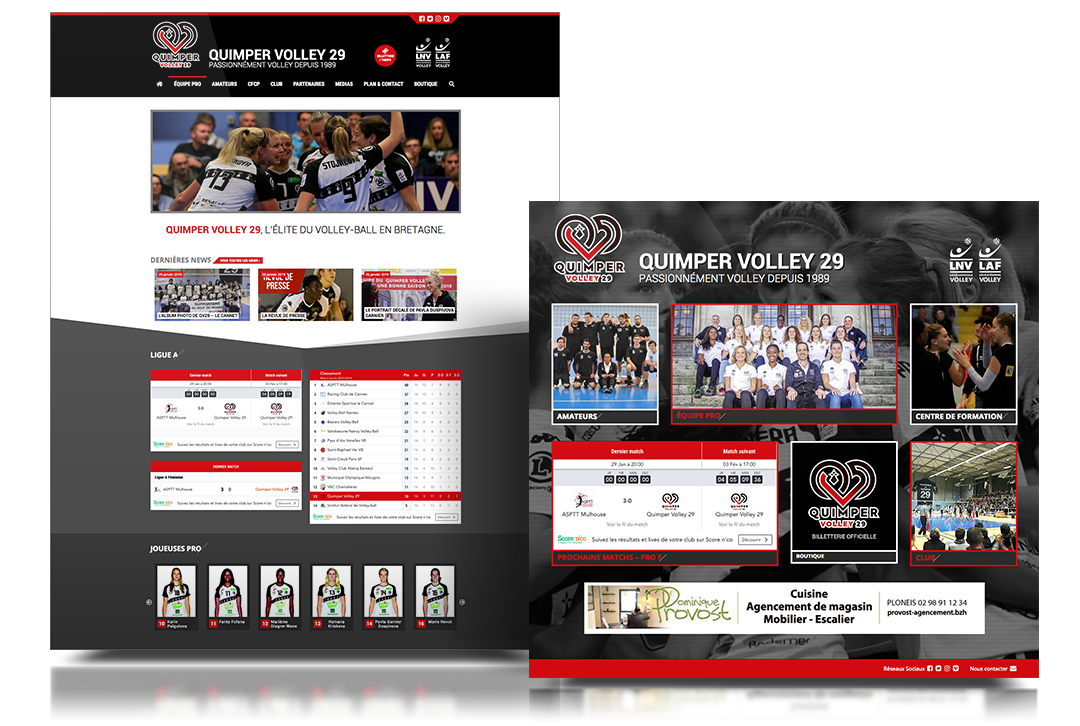 quimper volley 29 site web