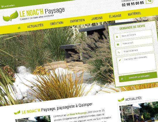 Site internet Le Noac'h Paysage à Quimper