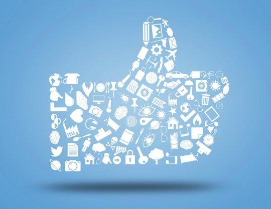 Symbole du like sur les réseaux sociaux