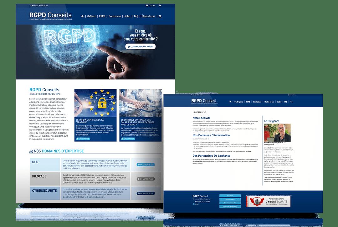 Création du site internet RGPD Conseil, entreprise spécialisé sur le respect du RGPD