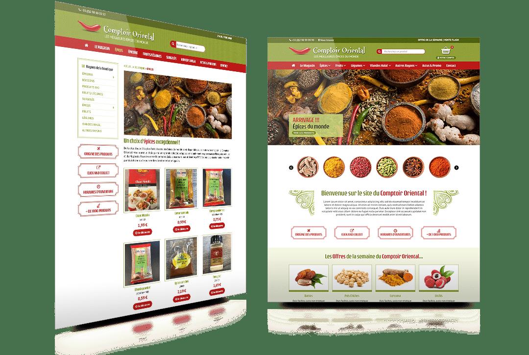 Création du site internet du Comptoir Oriental, magasin alimentaire à Quimper