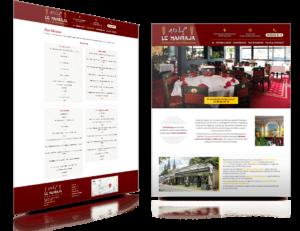 Site internet Restaurant Mahraja Quimper