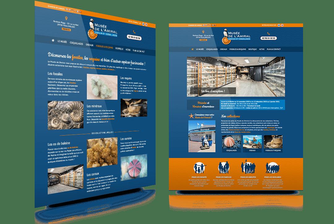 Création du site internet du Musée de l'Amiral à Pouldreuzic