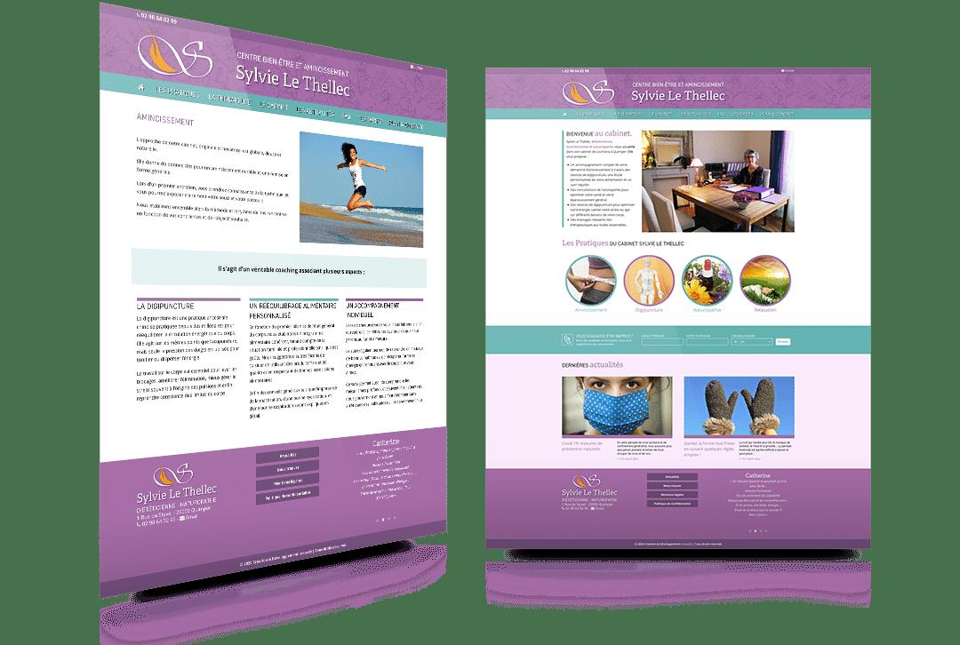 Création du site internet du Cabinet Le Thellec, diététicienne, nutritionniste et naturopathe à Quimper