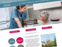 Développement du site internet de l'ADHAP à Quimper par netao, agence web à Quimper