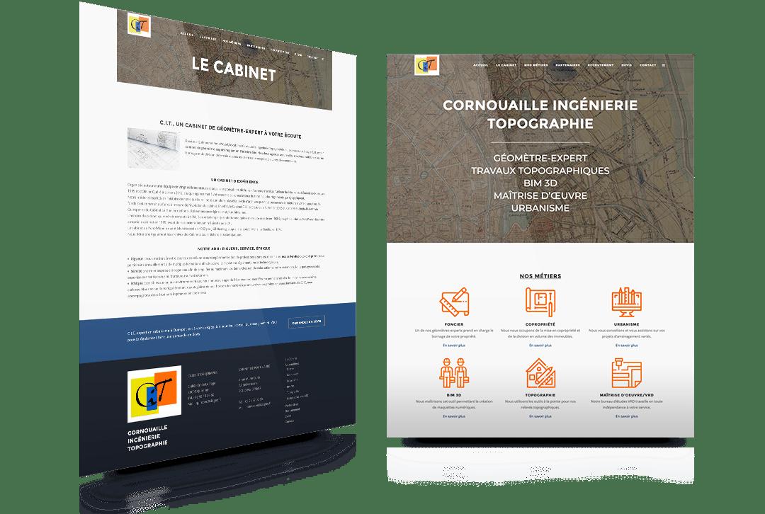 Création du site internet de Cornouaille Ingénierie Topographie, cabinet d'experts géomètres à Quimper