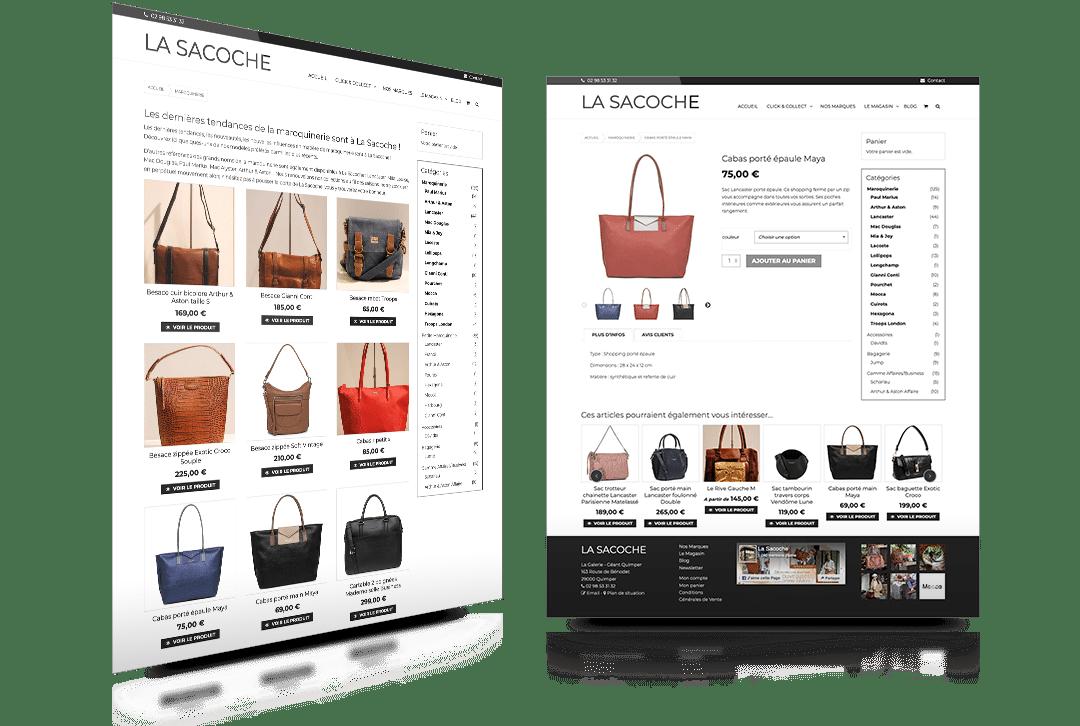 Création d'un système Click & Collect pour La Sacoche, magasin de maroquinerie à Quimper