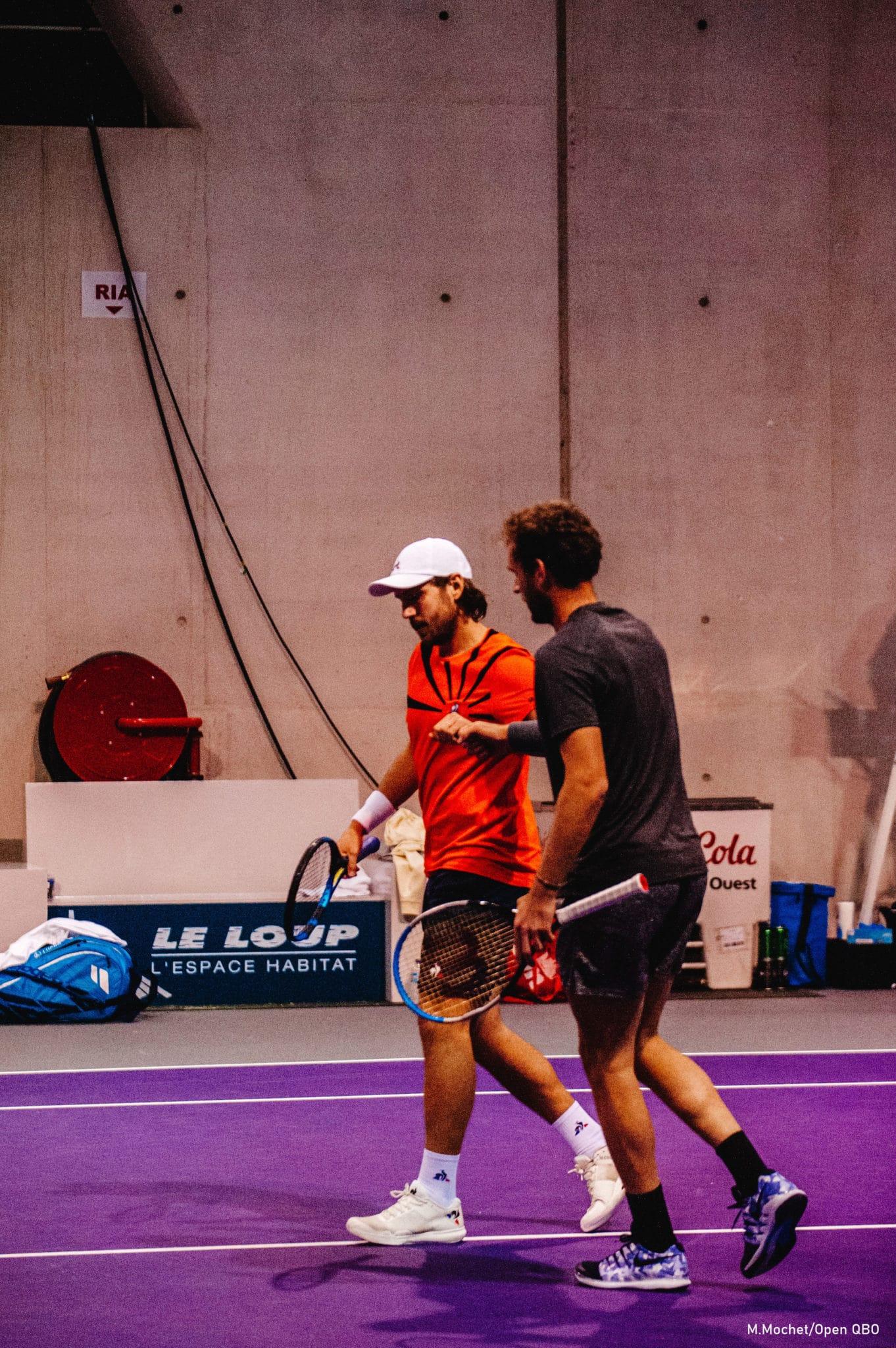 Les joueurs de tennis, Lucas Pouille et Mathias Bourgue