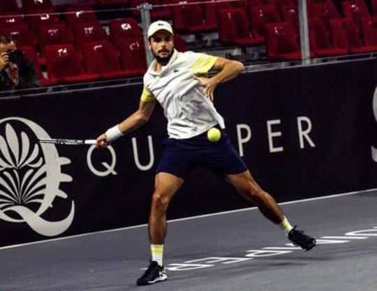 Le joueur de tennis Grégoire Barrere