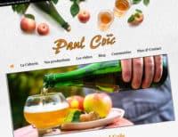 Site internet cidrerie Paul Coïc