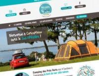 Site internet du Camping des Prés Verts aux 4 Sardines