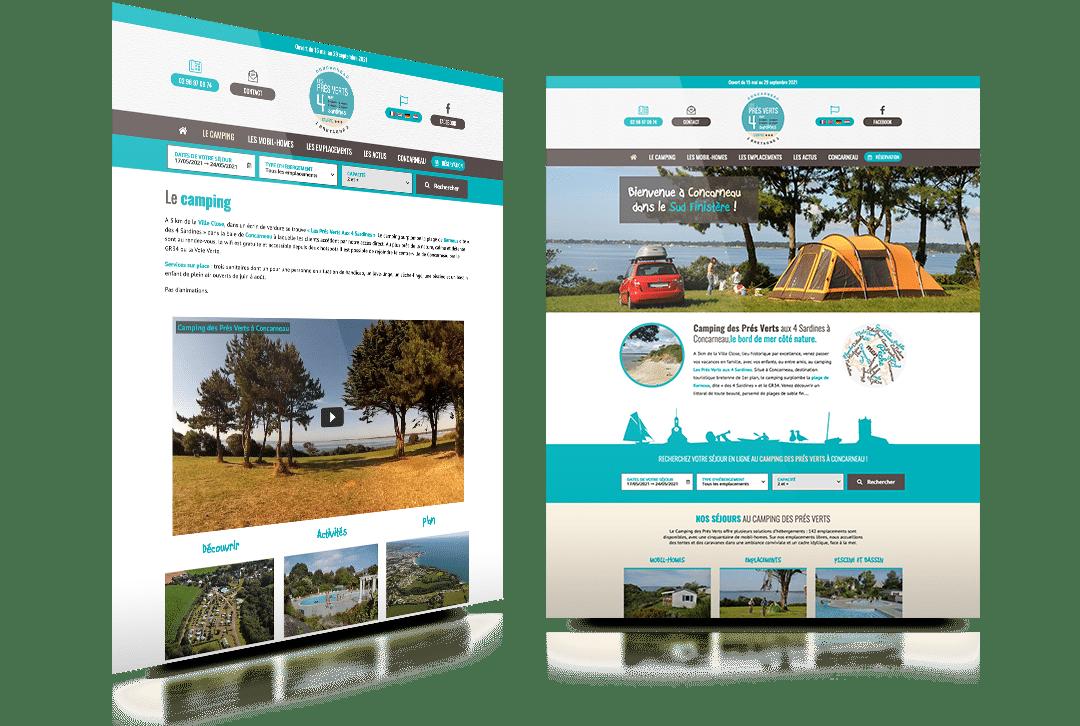 Création du site internet du Camping des Prés Verts aux 4 Sardines