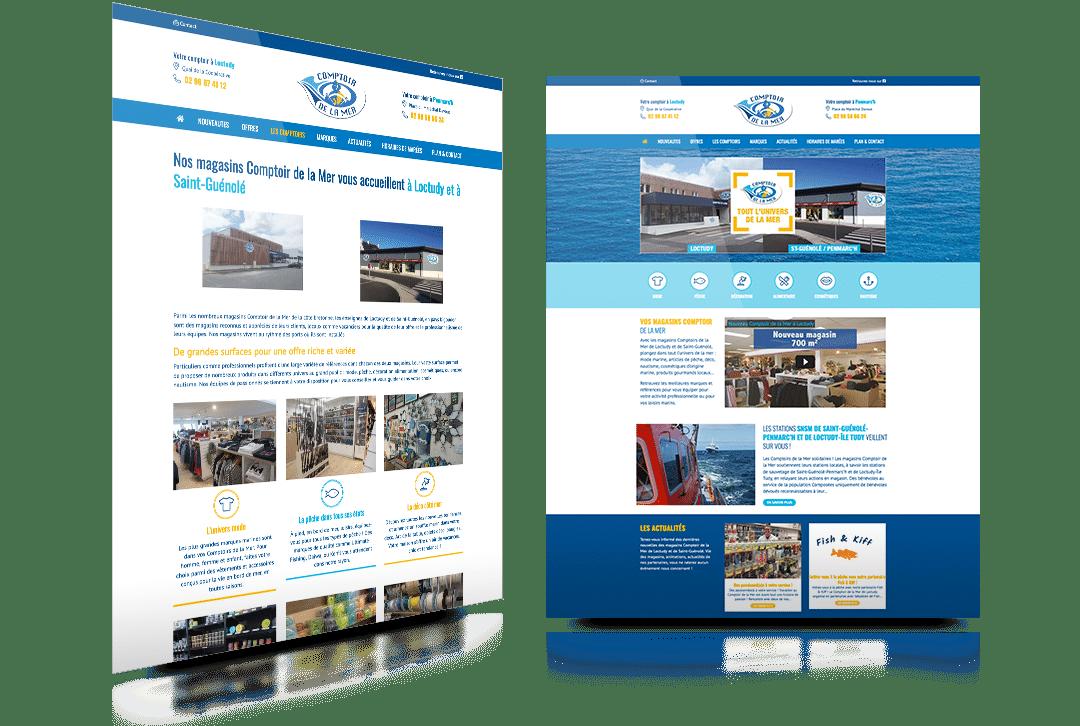 Nouvelle version du site internet du Comptoir de la Mer de Loctudy & Saint-Guénolé