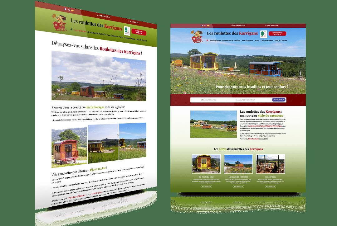 Nouvelle version du site internet de la Roulotte des Korrigans