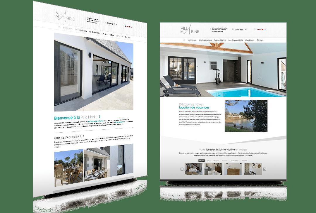 Création du site internet de la Villa Marine