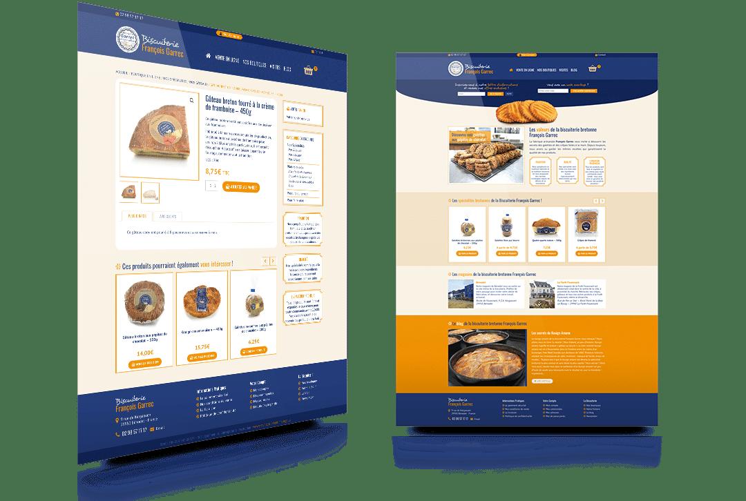 Site internet de la biscuiterie François Garrec