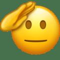 Nouvel emoji visage qui salue